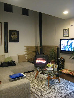 ヘーベルハウスに暖炉