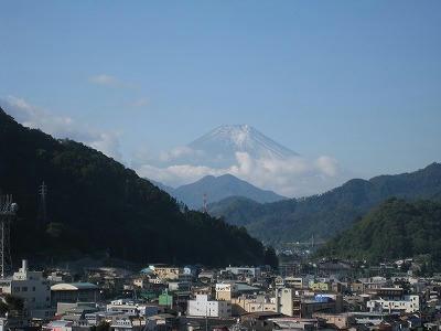 大月から眺める富士山