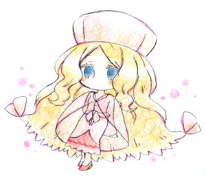 色鉛筆カトレア嬢