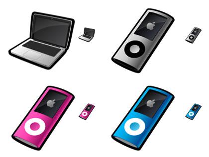 Mac book と iPod nano
