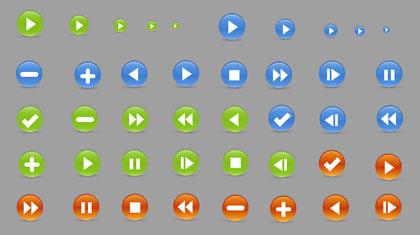 丸型ボタンアイコン