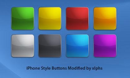 iPhone風ボタンアイコン