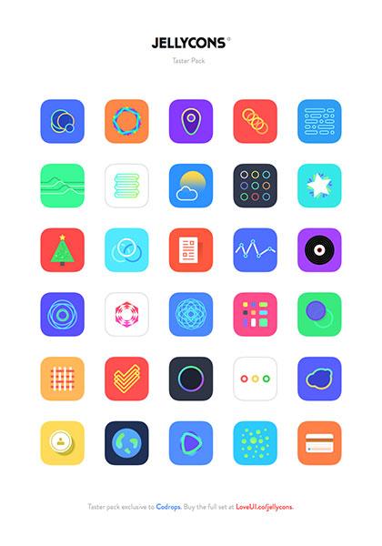 iOS 8 アプリの無料アイコン