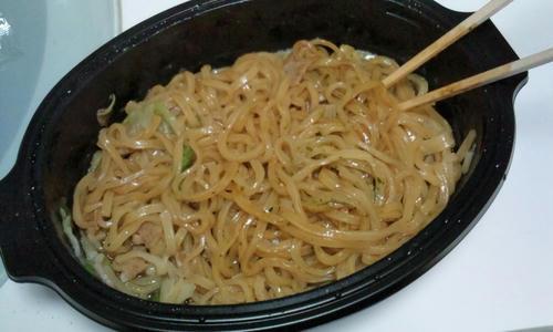ニッチン食堂 太麺ソース焼きそば