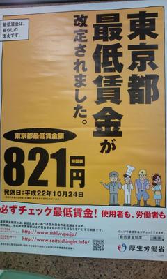 東京都 最低賃金