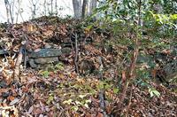 「円良田城」の石積み