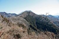 西側から眺めた「要害山」