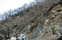 土石流の発生中