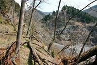 「山頂の郭」南端部の採掘跡