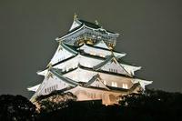 大坂城の夜景