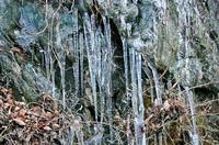七村城麓の氷柱