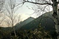 黄昏時の桐ノ城山