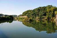 岩崎城の遠望