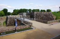 本丸の復元中石垣