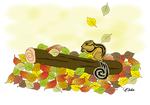 秋のぬりえ りす