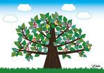 認知症のための塗り絵「止まり木」