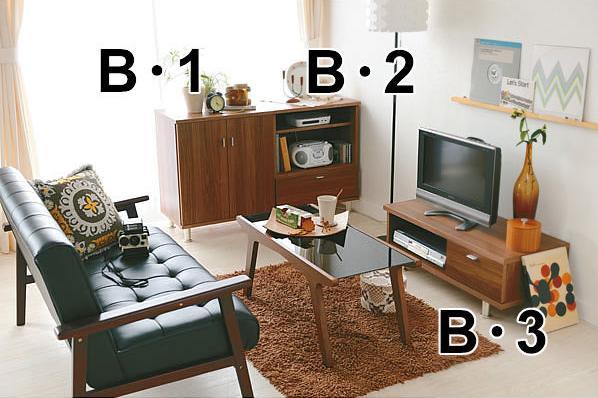 シックなソファを取り入れて、落ち着いた雰囲気を演出した大人カフェスタイル。狭いワンルームが、とっておきの隠れ家に変身です。 モダンリビングシリーズ :木目調がモダンな印象。AV機器からDVDまでコンパクトに収納できる機能満載。3色からお選びいただけます。