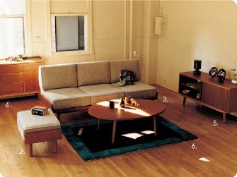 北欧ユーズドテイストな、広々ワイドサイズ179cmのカバーリングソファです。ユニセックスで、1シーター・2シーターよりぐっと大人っぽい印象の部屋の模様替えです。ソファと組み合わせても、単体でもお使い頂けます。優しい木の風合いが、懐かしい模様替えのオットマンです。低い生活にぴったりのローテーブルは、圧迫感のないオーバルタイプ。部屋ソファの前に置いても素敵です。 バランス良く配された7ヶのドアとドロワーで、効率収納が出来るキャビネット。人気の北欧ユーズ部屋の模様替えテイストです!シンプルで部屋の模様替えコーディネートしやすい柄です。額縁の様な分割の柄で、どこから見ても映えます。シンプルで合わせやすい柄をお探しの方におすすめです。