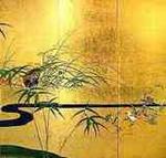 酒井抱一 四季花鳥図屏風 秋冬の雉