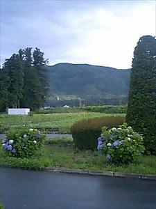 宿の前の風景
