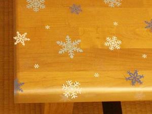 雪の結晶のテーブルクロス♪