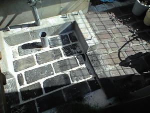 外水洗のレンガ