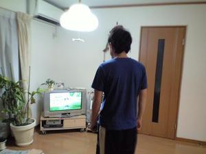 ダンナ、Wii Fit中!