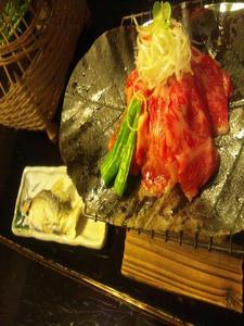 朴葉焼きと鮎の塩焼き