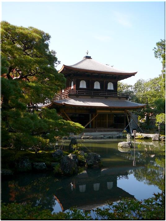 銀閣寺(現在は改修中…)