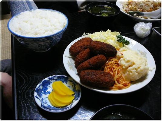 カニクリームコロッケ定食