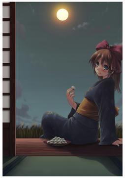 暗いお月見