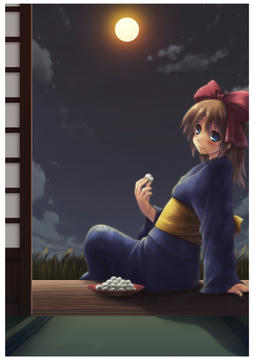 明るいお月見