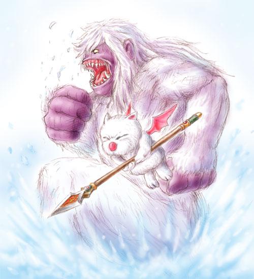 -FF6 雪の似合う二人(?)-
