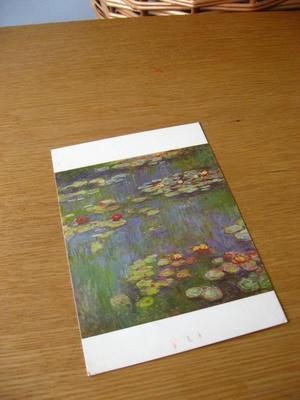 モネの睡蓮のポストカード