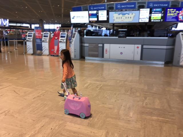 成田空港で、トランキ