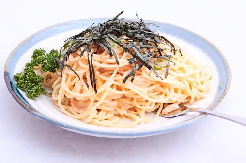 これは私の作ったスパゲッティー。のりがぐったり・