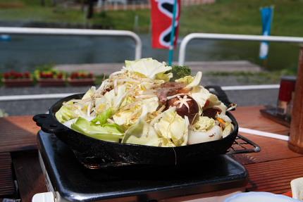 羊の脂の風味野菜炒めも美味しいです。