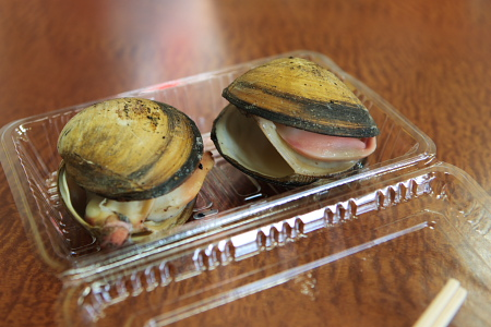 ホッキ貝の丸焼き。