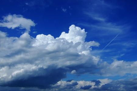 山形市上空の入道雲
