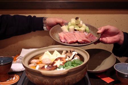 眞喰櫓料理一本のねぎま鍋