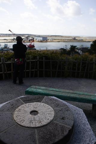 港が見下ろせる小高い公園・・・