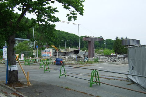 上山競馬場 解体工事