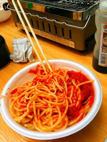 お手軽ミートスパゲティー