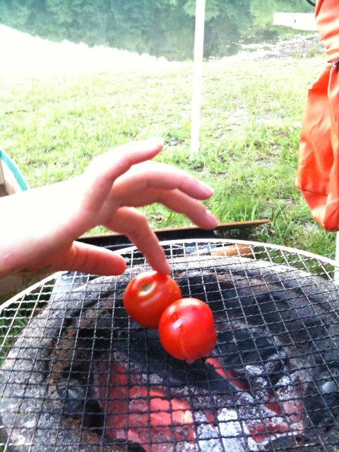 炭火焼トマト。濃厚な味わい