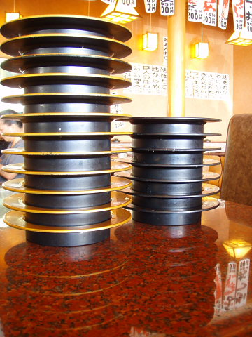 回転寿しの皿