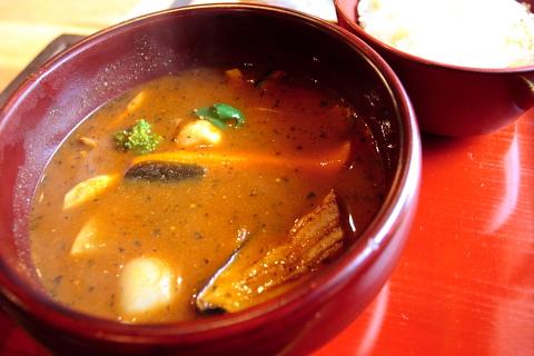 天元豚の挽肉カレー