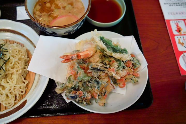 つけ麺セット 天麩羅