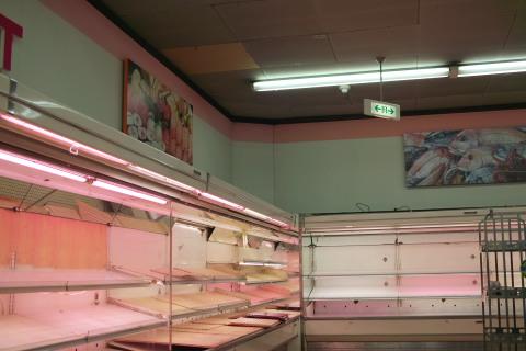 ヤマザワ北駅前店 閉店日の店内