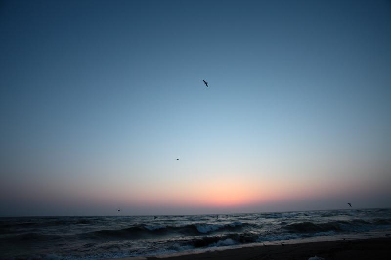 日本海に沈んだ夕日