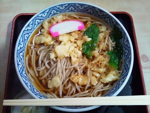 山川そばのたぬき蕎麦